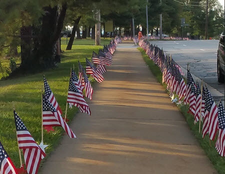 2977 flags as far as you can see in both directions ... | Suburban Land Trusts | Scoop.it