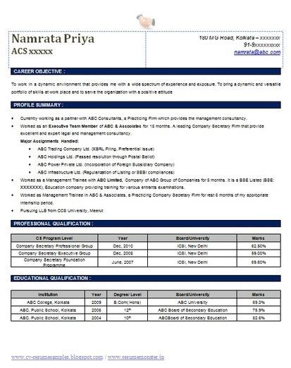 Resume For Company Secretary American Resume Sample Internship Sample Cover  Letter For Graduate Management Trainee Cover