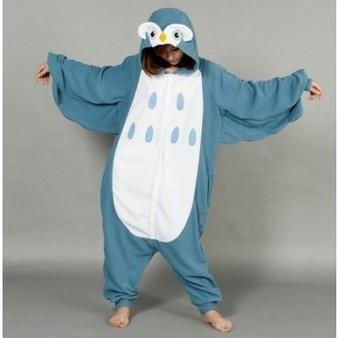 Cute Blue Owl Flannel Funny Kigurumi Animal Onesie Pyjamas Costume | Personalized Clothing | Scoop.it