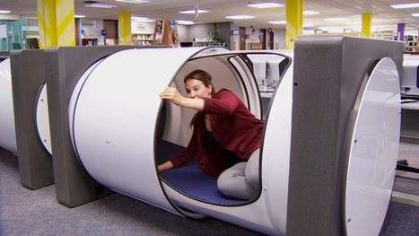 Napping in the library a lot more comfortable at BCIT with new sleep pods | innovative libraries | Scoop.it