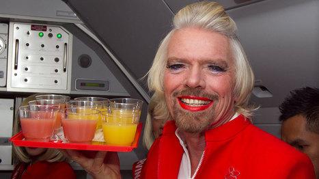 Quand Richard Branson joue les hôtesses de l'air   Mais n'importe quoi !   Scoop.it