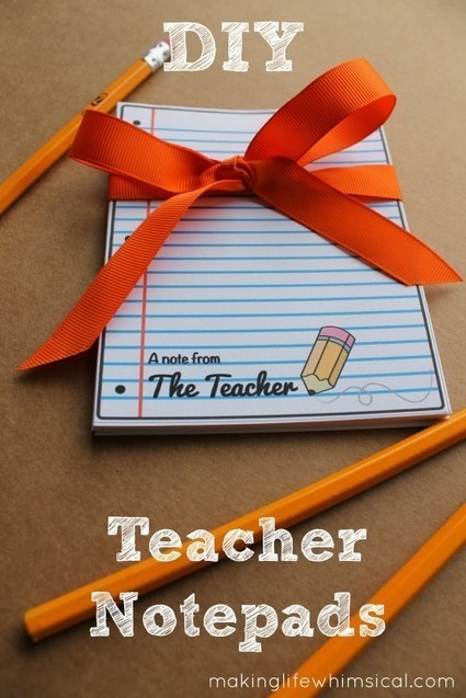 6 DIY Teacher Appreciation Gifts and Free Printables - Living Locurto | Crafty Kids | Scoop.it