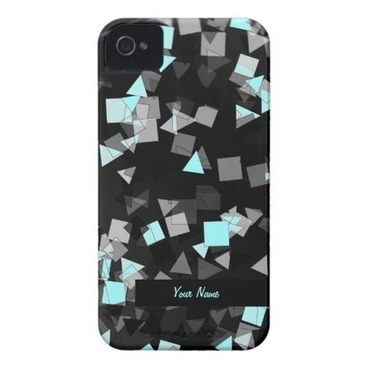 Aqua Confetti Custom Name iPhone 4 Case | iPhone Cases | Scoop.it