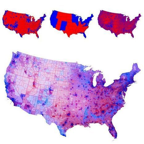 Most Americans live in Purple America, not Red or Blue America | Geography Education | Scoop.it
