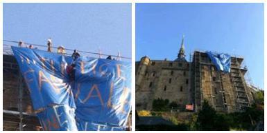 Mont Saint Michel : #4 pères et 1 mère perchés tourDeFrance #tdf #afp | Toute l'actus | Scoop.it