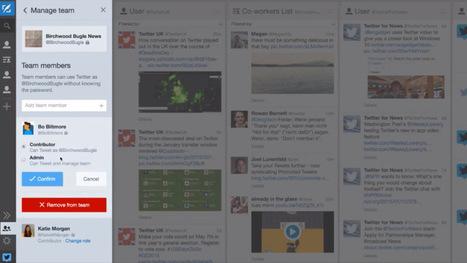 Twitter lance TweetDeck Teams pour partager la gestion de son compte sans partager le mot de passe - Geeks and Com' | Réseaux sociaux & eTwinning | Scoop.it