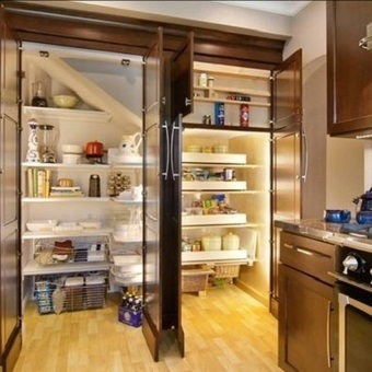 Stylish Kitchen Pantry Storage For Modern Space   Rhinway- home design   Scoop.it