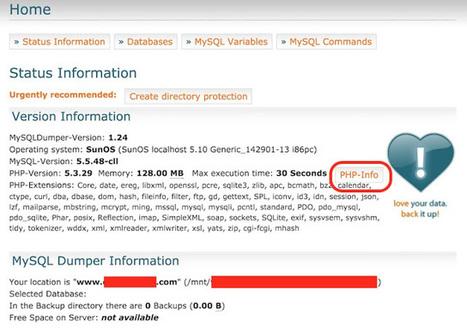 Un informático en el lado del mal: MySqlDumper: Un script de backup que no debes publicar | Enredado | Scoop.it