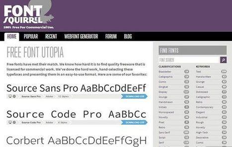 Font Squirrel, colección de fuentes de texto para descargar gratis | Las TIC y la Educación | Scoop.it