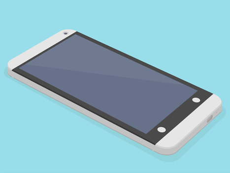 Flat HTC One 3D Mockup PSD | www.gafolik.com | Scoop.it