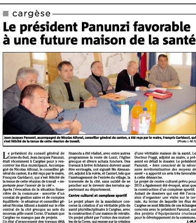La maison de santé de Cargèse | Revue de Presse de Cargèse | Scoop.it