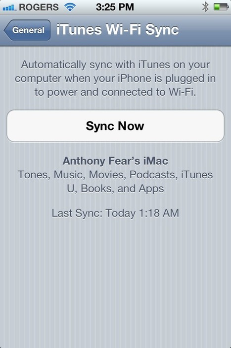 How to Use Wi-Fi Sync For iPhone 4S | TCGeeks | How to Use an iPhone Well | Scoop.it