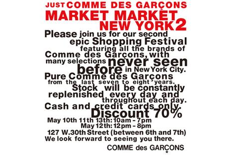 COMME des GARÇONS New York Market Market 2 | SLAMXHYPE | COMME des | Scoop.it
