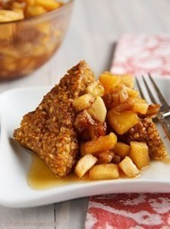 Pumpkin Oatmeal Cakes with Apple-Pecan Compote | My Vegan recipes | Scoop.it