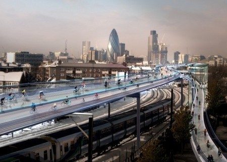 """Norman Foster-Designed Scheme Aims to Transform London into """"Cycling Utopia"""" 