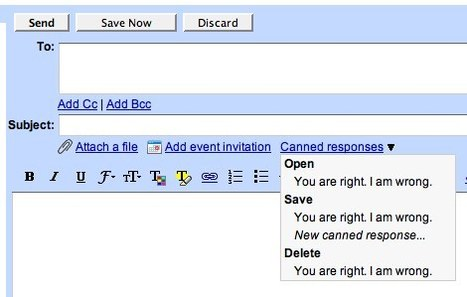 This, I like: Gmail Canned Responses | AJCann | Scoop.it