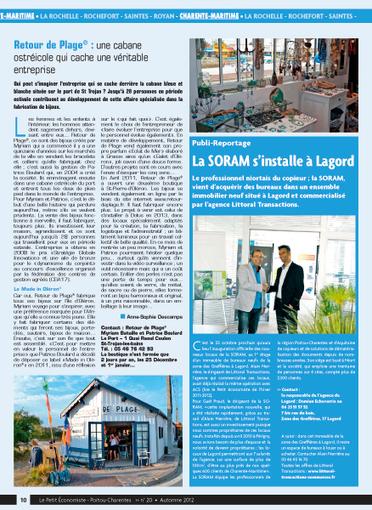 SORAM - lepetiteconomiste.com portail de l'économie en Poitou-Charentes   Annuaire Poitou-Charentes sur le site du Petit économiste   Scoop.it