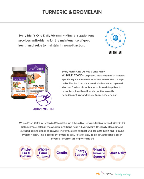 New Chapter Every Man's One Daily   Vitasave - Canada's top online vitamin and supplement store   Scoop.it