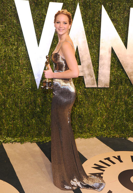 Jennifer Lawrence in Calvin Klein Collection at the 2013 Vanity Fair Oscar Party | Jennifer Lawrence | Scoop.it
