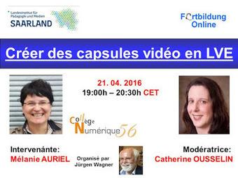Globinars: Conférence en ligne gratuite: Créer des capsules vidéo en LVE | LANGUES VIVANTES AU COLLEGE | Scoop.it