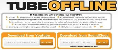 TubeOffline | Descarga vídeos de Youtube o Facebook y mp3 de Soundcloud | MLKtoSCL | Scoop.it