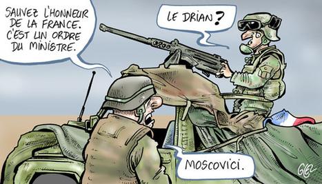 Caricature de presse de Damien Glez sur les militaires Français au Mali | Have a word | Scoop.it