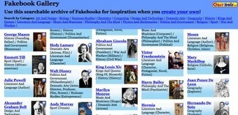 Free Technology for Teachers: Fakebook Gallery - A Gallery of Fake Facebook Profiles for Historical Characters | Hamilton West Shared Resources | Scoop.it