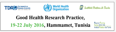 "Cours ""GOOD HEALTH RESEARCH PRACTICE (GHRP)"", 19-22 juillet 2016 