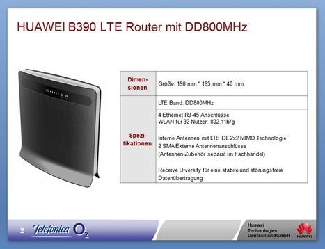 Huawei B390 – 800 Mhz LTE Wi-Fi Router (O2-Deutschland) | Surfstick und Router | Mobile Internet - Surfsticker und Router | Scoop.it