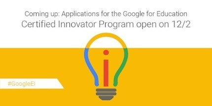 The program formerly known as the Google Teacher Academy is back and better… | K-12 Web Resources | Scoop.it
