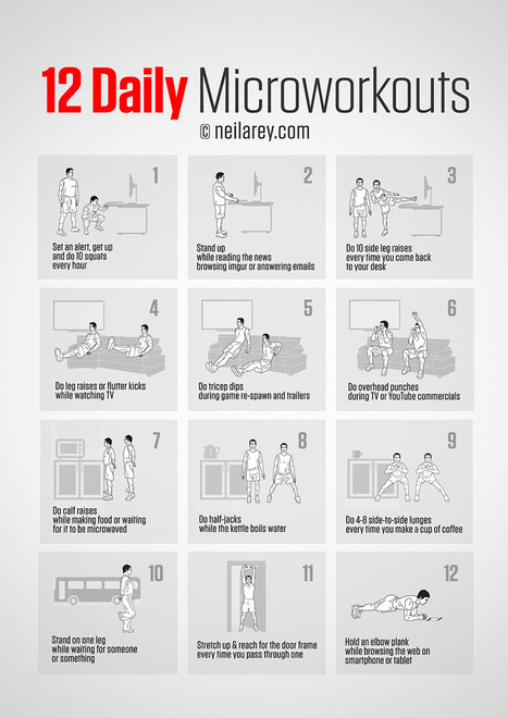 12 Daily Microworkouts | Exercising Effectively | Scoop.it