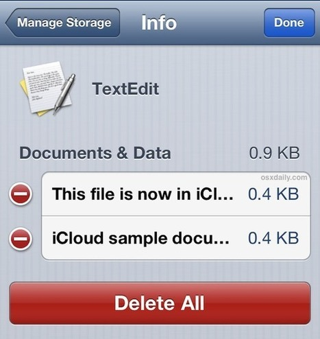 View & Delete iCloud Documents from the iPhone & iPad   iPads, MakerEd and More  in Education   Scoop.it