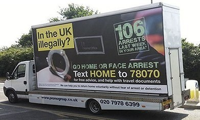 Home Office 'go home' vans banned over misleading figures | Structural Supremacy | Scoop.it