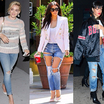 Rihanna, Kim K And More Celebs Love The Distressed Jeans Look | Fashion & Style - News, Trends, Advice For The Busy Working Woman | Scoop.it