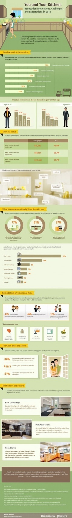 You and Your Kitchen: Renovation Motivations, Challenges, and Expectations in 2014 | Renaissance Painters | Scoop.it