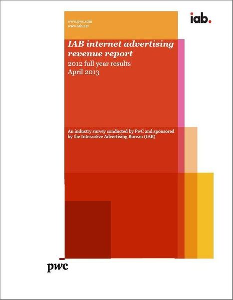 IAB Internet Advertising Revenue Report conducted by PricewaterhouseCoopers (PWC) | Publicite digitale | Scoop.it