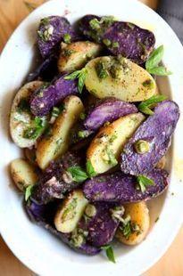 Zingy Purple Potato Salad   The Official Website for Donal Skehan   Recettes d'ici et d'ailleurs   Scoop.it