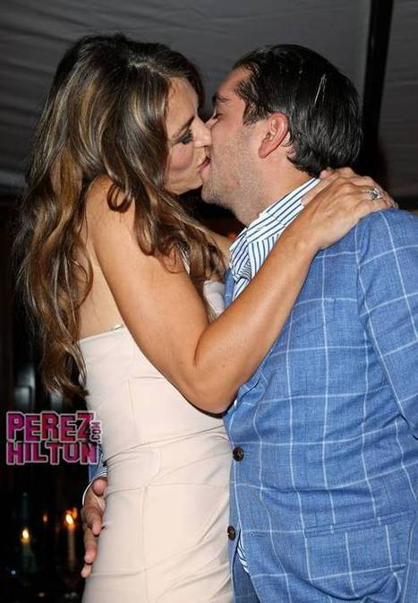 "A Lucky & RICH Guy Paid $81K Just To Smooch Elizabeth Hurley! This Pic Proves He Wanted His Money's Worth! | ""FOLLIEWOOD"" 