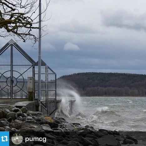 Via Instagram: Repost von @pumcg<br/><br/>Wellenbrecher am Bodensee - es ist selten, aber manchmal kann er auch wild und st&uuml;rmisch | UnserBodensee | Scoop.it