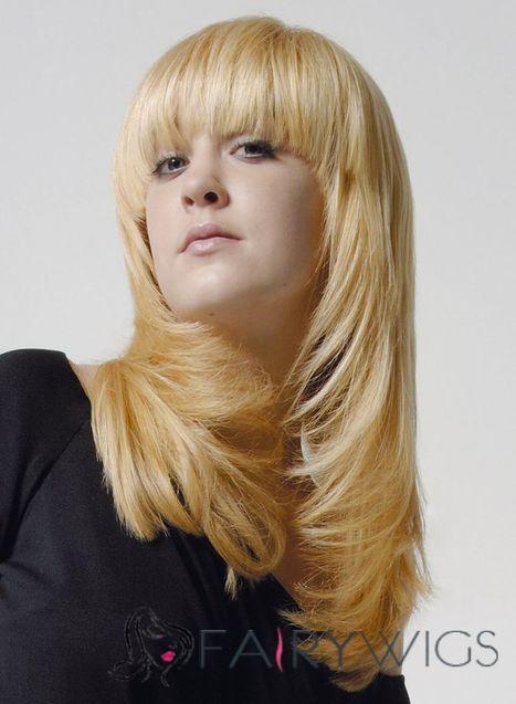 Super Smooth Medium Wavy Blonde 18 Inch Human Hair Wigs : fairywigs.com | Synthetic Hair Wigs | Scoop.it