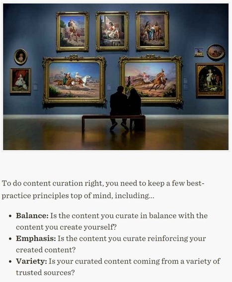 Curating Content: A Few Principles to Guide Your Efforts - Profs | Storytelling | Scoop.it