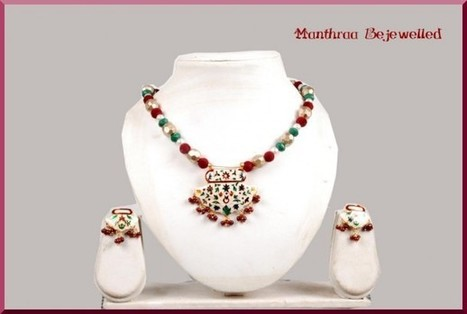 Maroon Velvet Beads Manthraa09 - Craftsia - Indian Handmade Products & Gifts | Indian Handmade Jewelry | Scoop.it