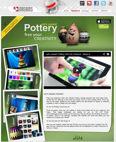 New app: Let's Create! Pottery and 3d print it! | Additive Manufacturing News | Scoop.it