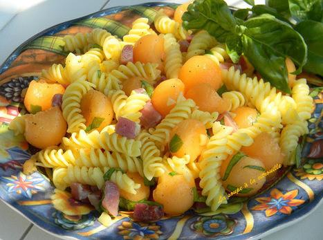 Salade de pâtes au melon, jambon de Parme et basilic | Jambon FR | Scoop.it