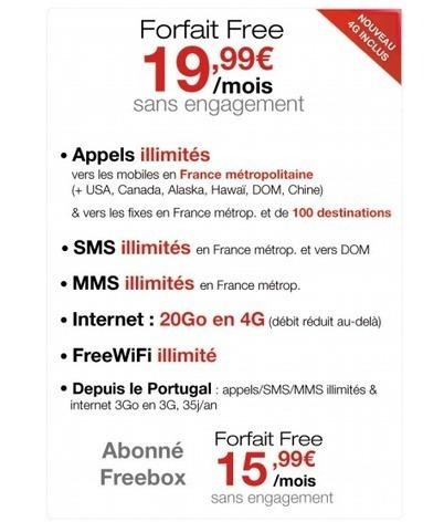 Free inclut la 4G dans son forfait à 19,99 euros/mois avec 20 Go de fair-use ! - FrAndroid | Seniors | Scoop.it