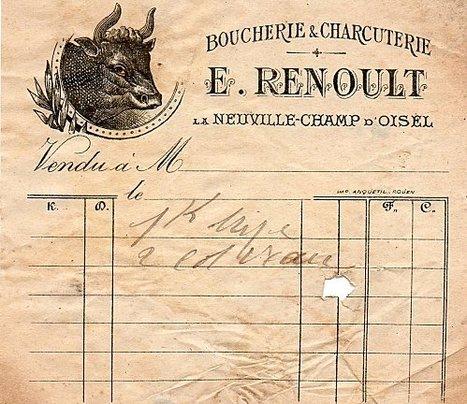 La boucherie Renoult en 1905 à La Neuville Chant d'Oisel | MaisonNet | Scoop.it