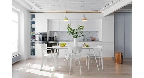 Déco intérieure : un appartement blanc et jaune graphique   Décoration_PlusDeCoton   Scoop.it