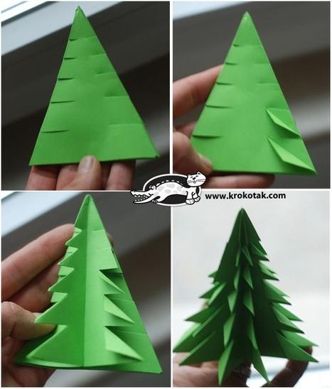 Do It Yourself: Φτιάχνουμε όμορφα μικρά χάρτινα δεντράκια | Απάνθισμα | Scoop.it