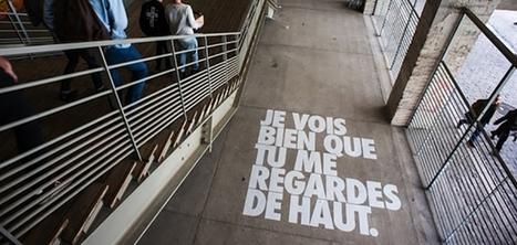 À Paris, les lieux publics s'adressent aux passants grâce à des phrases taggées au sol et sur les murs | Interest Digital Fr | Scoop.it