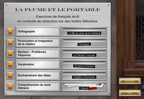 La plume et le portable - Exercices de français écrit | Remue-méninges FLE | Scoop.it